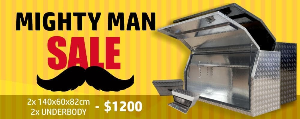 Mighty Man Sale Banner