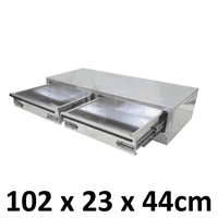 Aluminium Plate toolbox tool box drawer insert truck Ute car storage box toolboxes 1200D