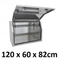 Aluminium Toolbox Full Side Opening Ute Trailer Truck Storage Tool Box 1268FD