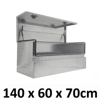 Aluminium Side 3/4 Opening Square Storage Ute Toolbox 1467