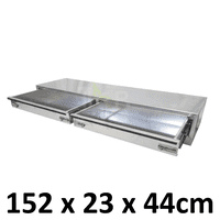 Aluminium Plate toolbox tool box drawer insert truck Ute car storage box toolboxes 1700D