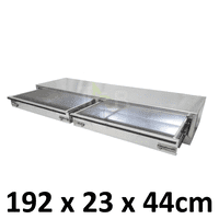 Aluminium Plate toolbox tool box drawer insert truck Ute car storage box toolboxes 2100D