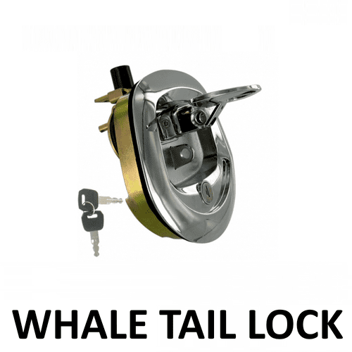 1x Recessed Folding T Lock Padlock Friendly Whale Tail  Handle
