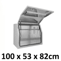 1000 x 530 x 820mm Aluminium Ute Truck Trailer Full Side Toolbox Tool Box 1058FD