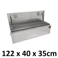 1220 x 400 x 350mm Aluminium Ute Truck Trailer Camper Top Lid Toolbox Box 1243