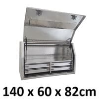 1400 x 600 x 820mm Aluminium 4 Slide Drawer Ute Truck Toolbox Tool Box 1468FD-4