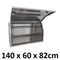 1400 x 600 x 820mm Aluminium Ute Truck Trailer Full Side Toolbox Tool Box 1468FD