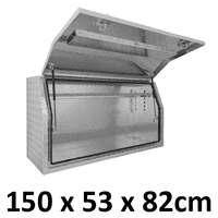 1500 x 530 x 820mm Aluminium Ute Truck Trailer Full Side Toolbox Tool Box 1558FD