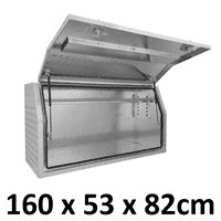 1600 x 530 x 820mm Aluminium Ute Truck Trailer Full Side Toolbox Tool Box 1658FD