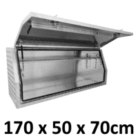 1700 x 500 x 700mm Aluminium Ute Truck Trailer Full Side Toolbox Tool Box 1757FD