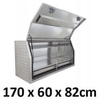 1700 x 600 x 820mm Aluminium 2 Slide Drawer Ute Truck Toolbox Tool Box 1768FD-2