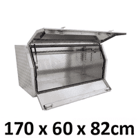 1700 x 600 x 820mm Aluminium Ute Truck Trailer Toolbox Multi Lid Tool Box 1768ML