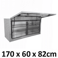 Aluminium Square Toolbox Full Side Opening Ute Trailer Truck Storage Tool Box 1768SFD