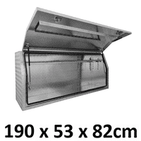 1900 x 530 x 820mm Aluminium Ute Truck Trailer Full Side Toolbox Tool Box 1958FD
