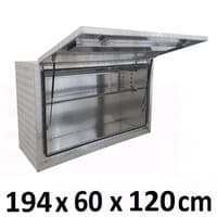 1940 x 600 x 1200m Aluminium Ute Truck Trailer Toolbox HIGH Side Tool box 1961
