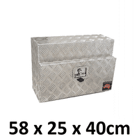 580 x 230 x 400mm Aluminium Ute Truck Storage Under Body Tray Tool Box 524S