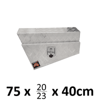 750 x 230 x 400mm Aluminium Ute Truck RIGHT Under Body Tray Tool Box 4x4 724RN