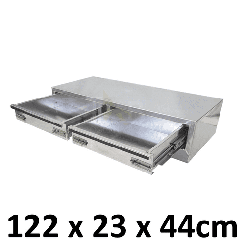 Aluminium Plate toolbox tool box drawer insert truck Ute car storage box toolboxes 1400D