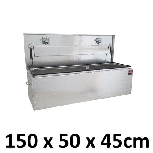 1500 x 500 x 450mm Aluminium Ute Truck Trailer Camper Top Lid Toolbox Box 1554