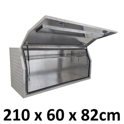 2100 x 600 x 820mm Aluminium Ute Truck Trailer Full Side Toolbox Tool Box 2168FD