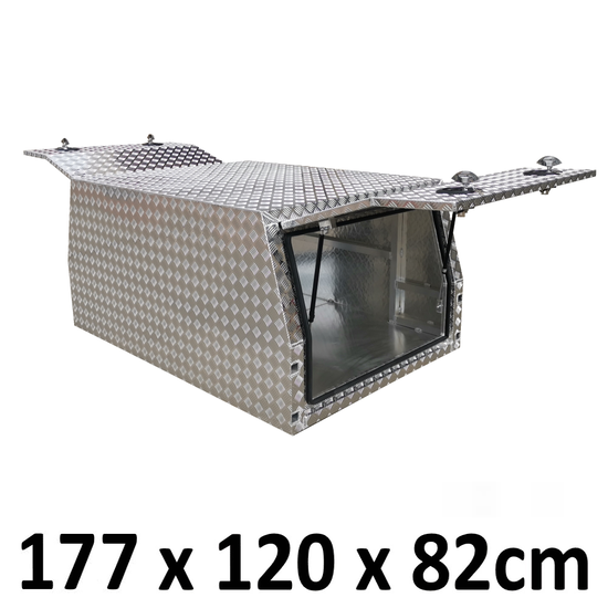 1780 x 1200 x 820mm Checker Alloy Ute Truck Trailer Toolbox Canopy Gullwing M-1218C-C