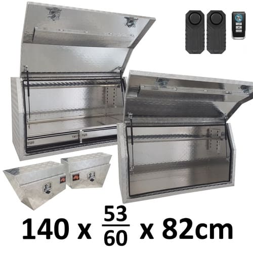 Aluminium 1.4m 4 Box Full Side Opening & 2 Drawer Package with Alarms